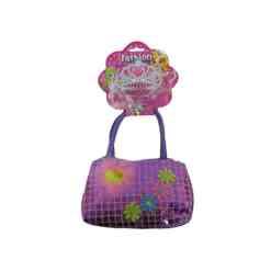 Käsilaukku & tiara pinkki tai liila