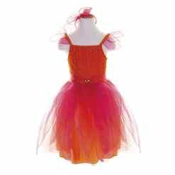 Kukkaistyttö mekko oranssi