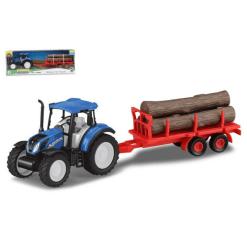 Traktori New Holland & tukkikärry