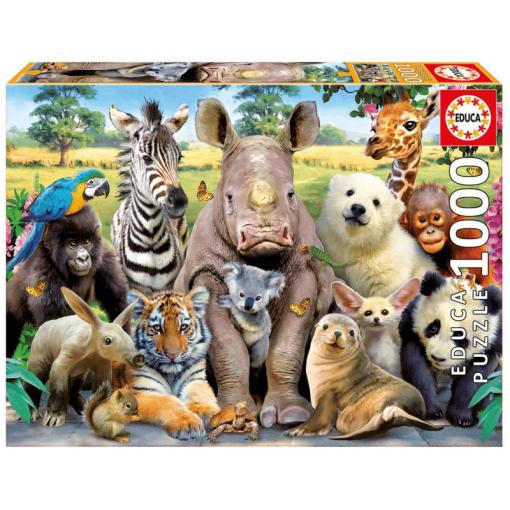 Palapeli 1000 palaa villieläimet luokkakuva
