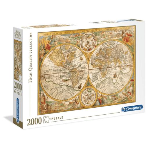 Palapeli 2000 palaa Kartta Antiikki Clementoni