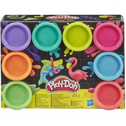 Play Doh purkit 8 kpl neonvärit
