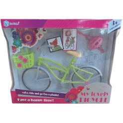 Polkupyörä & kypärä muotinuken erilaisia