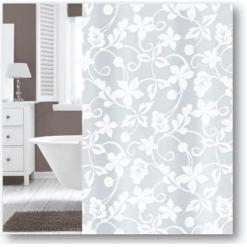 Suihkuverho 180 x 200 cm White Flower