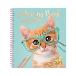 Studio Pets värityskirja tarroilla, kissa