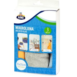 Siivous mikroliina 3 kpl, Aino