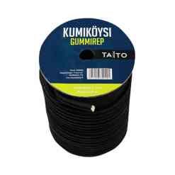 Kuminauha pyöreä Ø 7 mm 30 metriä musta
