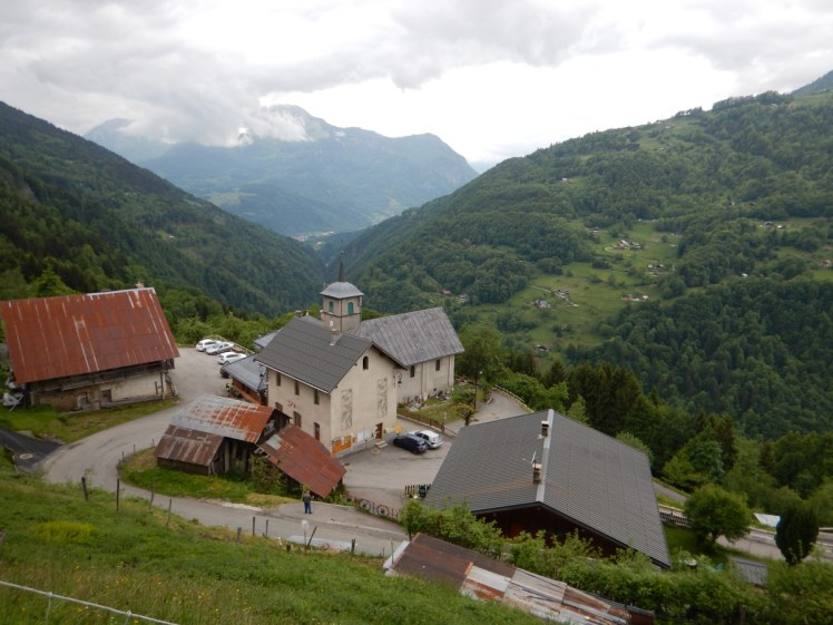 Picturesque tiny village with church in the Rhone Alps