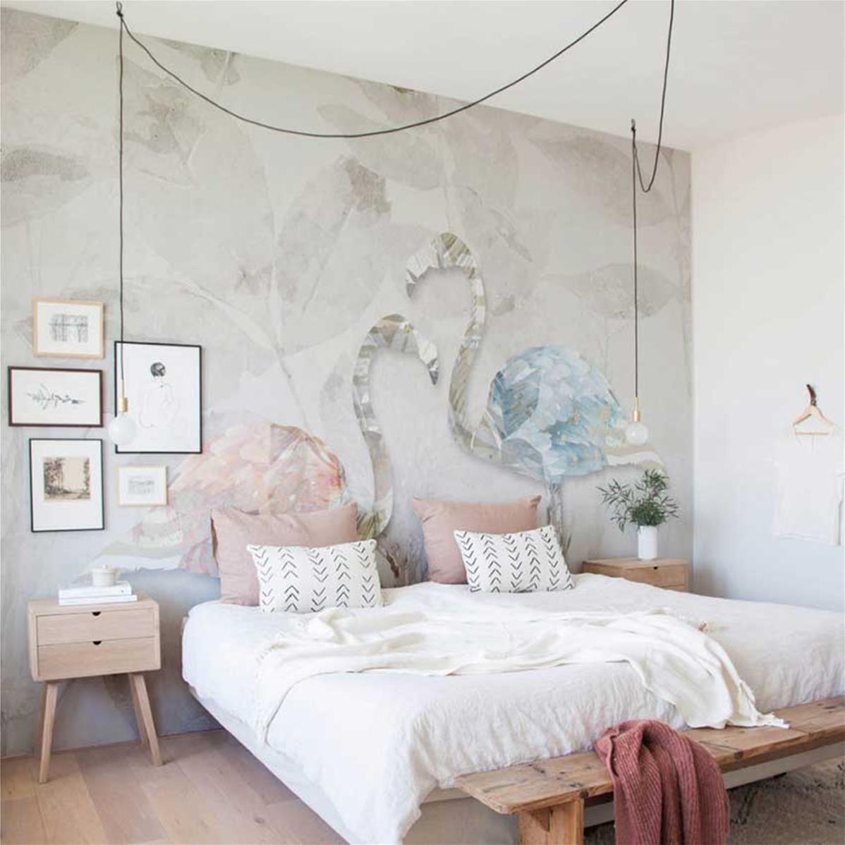 papier peint design chambre adulte elko