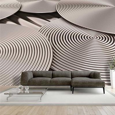 papier peint spirale metallique loof