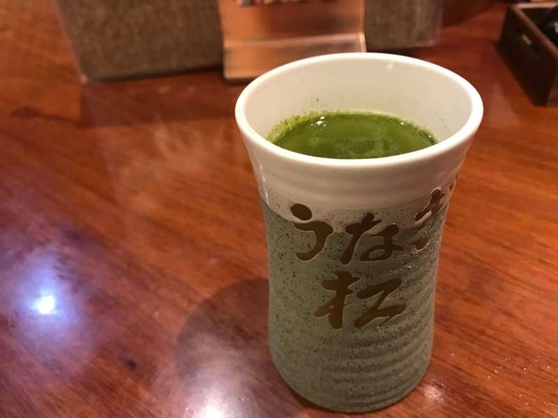 炭火焼きうなぎ専門店松葉のお茶
