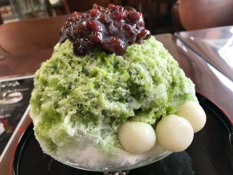 沖縄cafe果報の抹茶ぜんざい