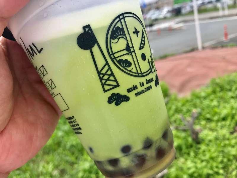 パールレディ茶BARイオンモール浜松市野店のクリーム霧抹茶ミルク