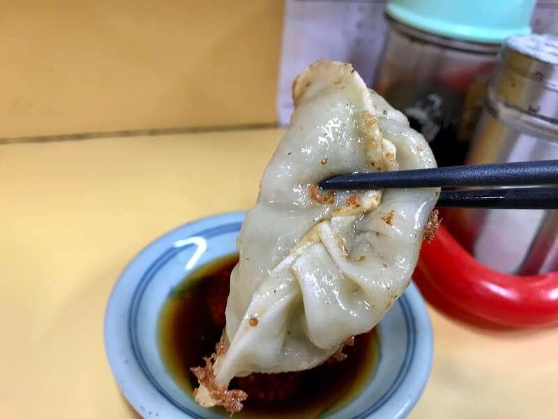 中華料理華の餃子の皮
