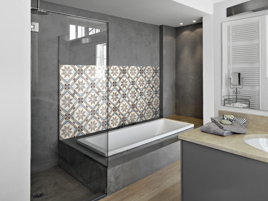 espace salle de bains mural decor