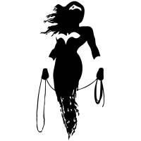 Wall sticker Wonder Woman silhouette | MuralDecal.com