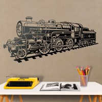 Wall decal Steam train locomotive | MuralDecal.com