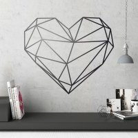 Decorative Vinile geometric Origami heart