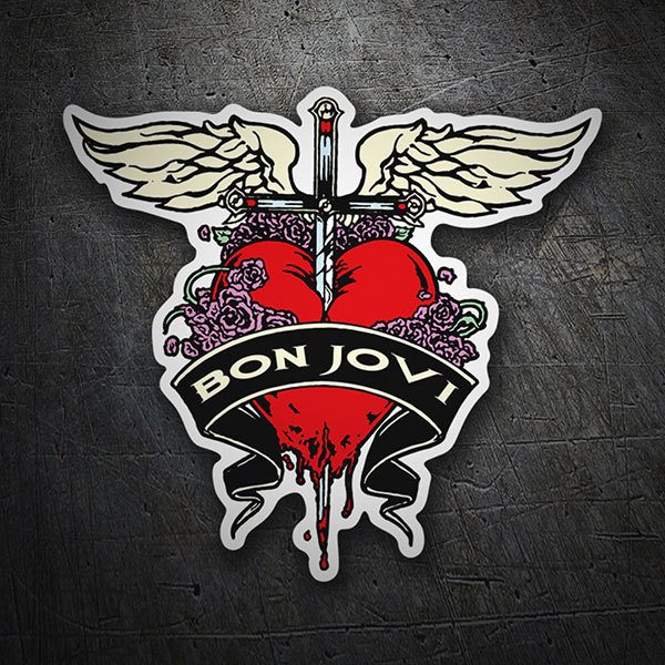 sticker bon jovi heart