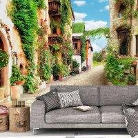 Wall mural Street rustic village | MuralDecal.com