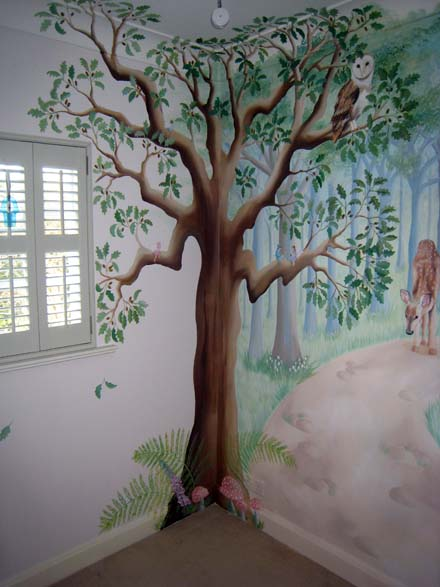 Cute Bedroom Wallpaper Ideas Fairy Woodland Mural In Nursery