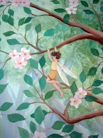 Fairy Woodland Mural In Nursery