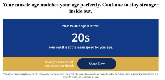 check muscle age here