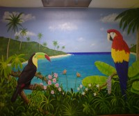 Wall Murals, Home Wall Murals, Hand Painted Oil Wall ...