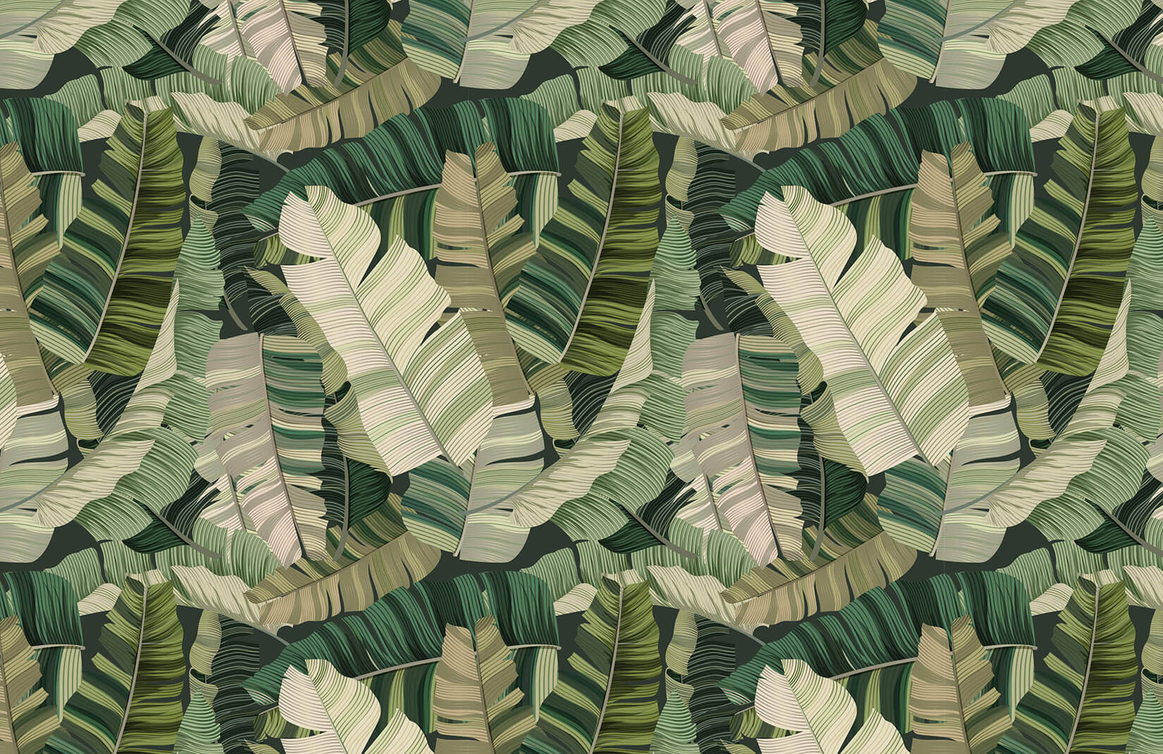 3D Tropical Camo Leaf Wallpaper