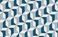 Abstract Blue Geometric Wallpaper