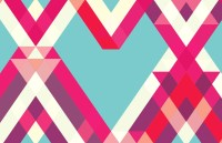Abstract Geometric Heart Wall Mural