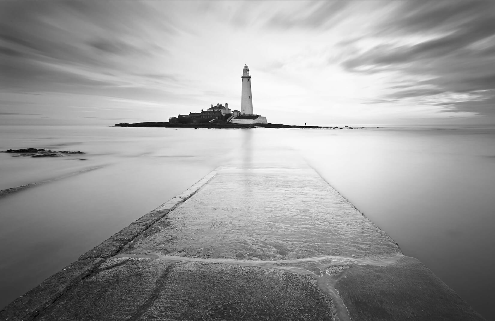 Black and White Lighthouse Wall Mural  MuralsWallpapercouk