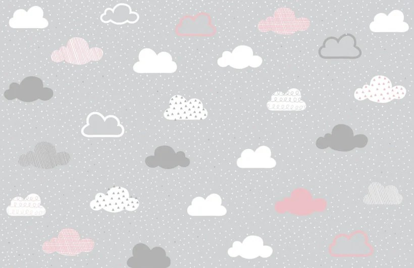 s shop murals pink grey clouds pattern wall mural