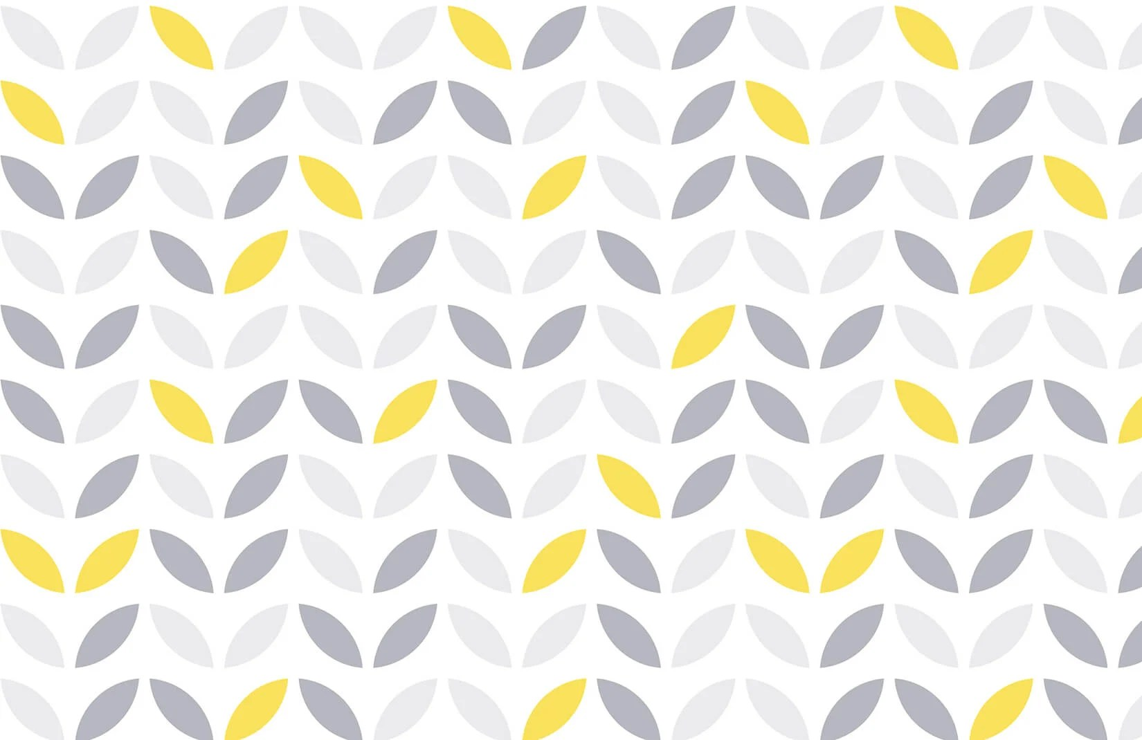 Yellow and Grey Abstract Flower Pattern Wallpaper  Murals