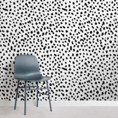 Black And White Wallpaper Ideas For Living Room Oak Furniture Set Designs Unique Patterns Luxury Murals Dalmatian Speckle Wall Mural