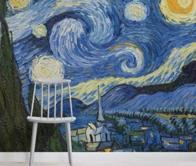 Starry Night By Van Gogh Art Mural Wallpaper