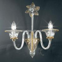 """Alloro"" Murano glass sconce - Murano glass chandeliers"
