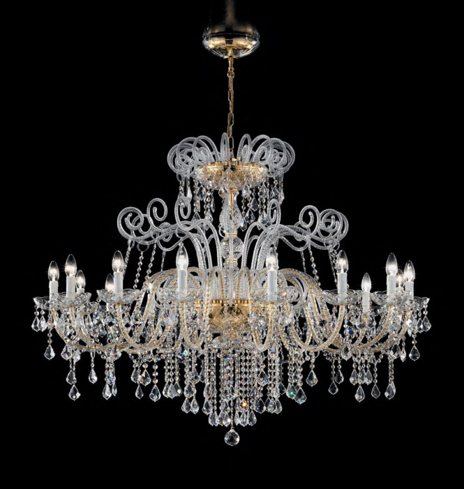 Antique Style Murano Glass Swarovski Crystals Chandelier Syl947k16
