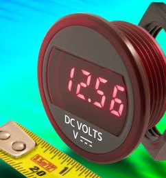 dmr20 10 dcm compact self powered dc panel mount voltmeter suits battery monitoring [ 3839 x 2742 Pixel ]