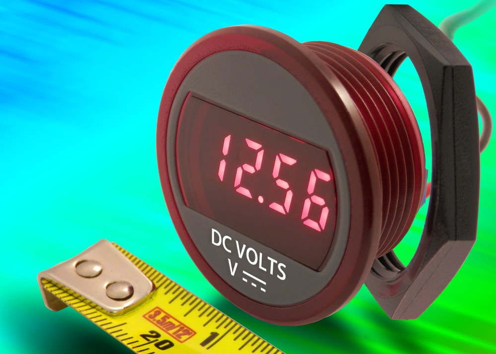 medium resolution of dmr20 10 dcm compact self powered dc panel mount voltmeter suits battery monitoring