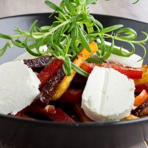 Grillet rotgrønnsaker med mozzarella