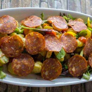 Chorizo picante salat med potet