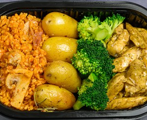 Middag - Varm lunsj - Kylling,brokkoli,potet,bulgur