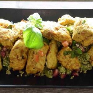 Kylling tapas - Grillet kylling med quiona salat