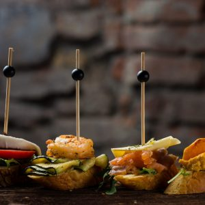 Tapas on Crusty Bread - Selection of Spa