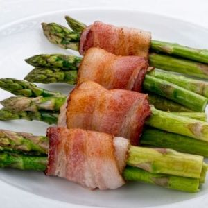 Bacon rullet med asparges VM