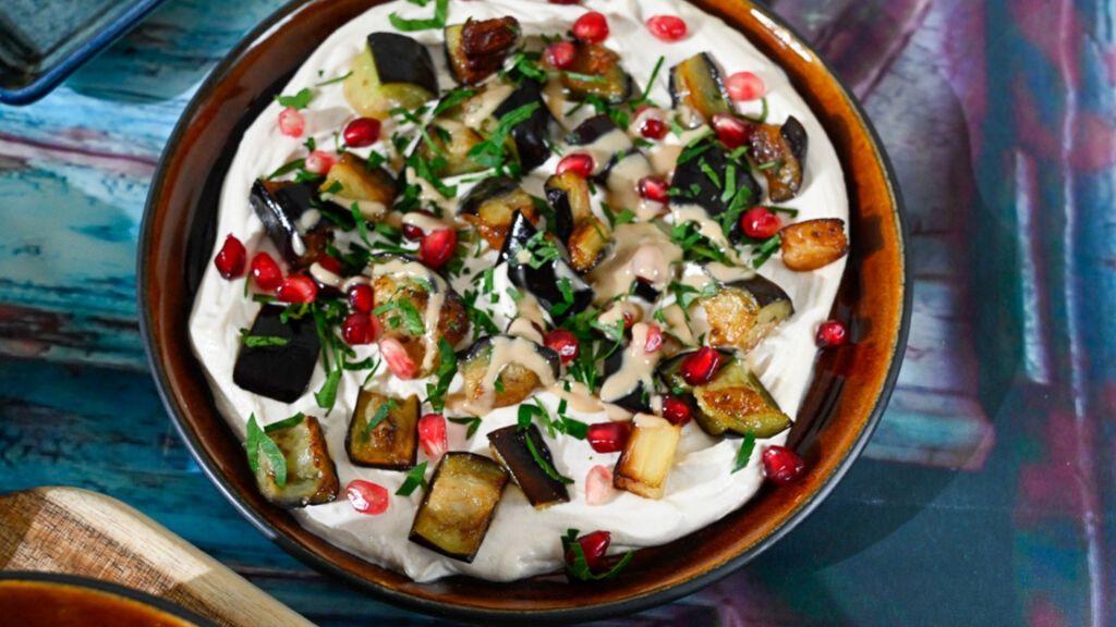 auberginer tahini
