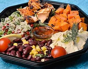 Grillet laks salat stor