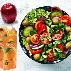 Lunsj pakke med salat