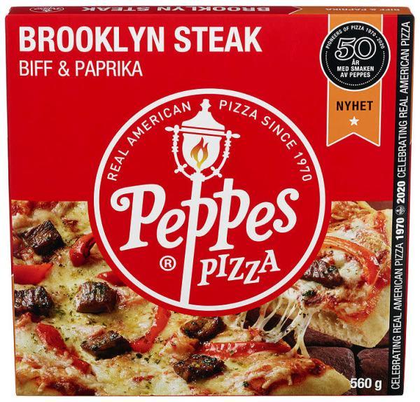 PEPPES PIZZA BROOKLYN STEAK 560G